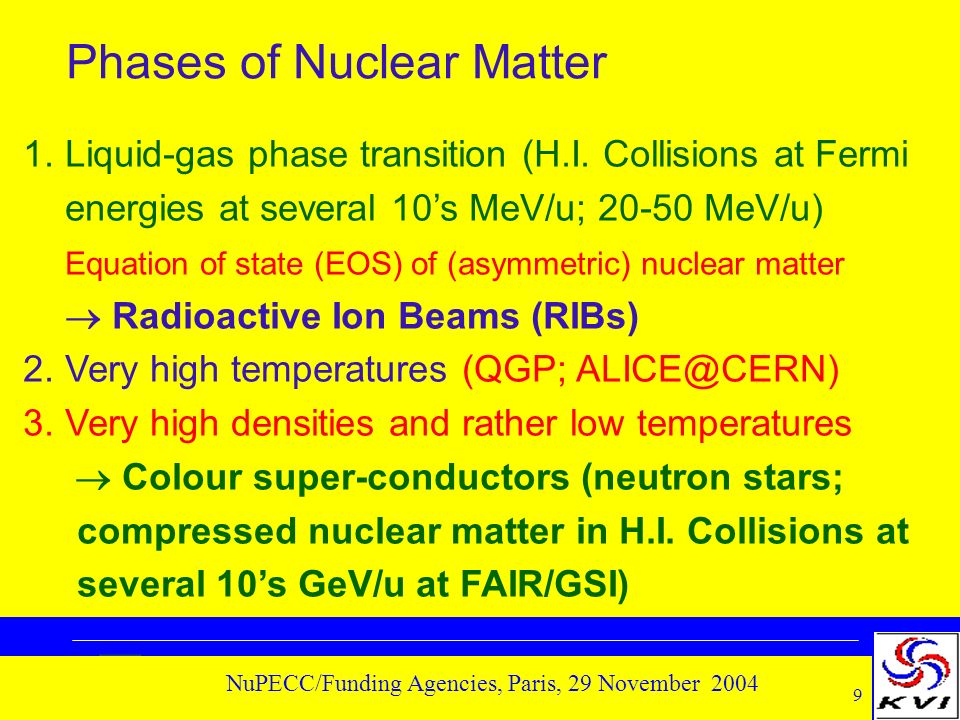 20 NuPECC/Funding Agencies, Paris, 29 November 2004 Fundamental Interactions & Symmetries 1.