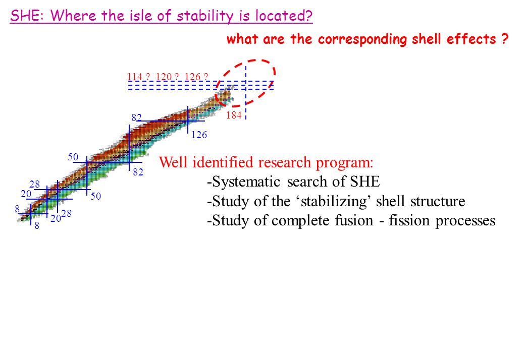 SHE: Where the isle of stability is located. what are the corresponding shell effects .