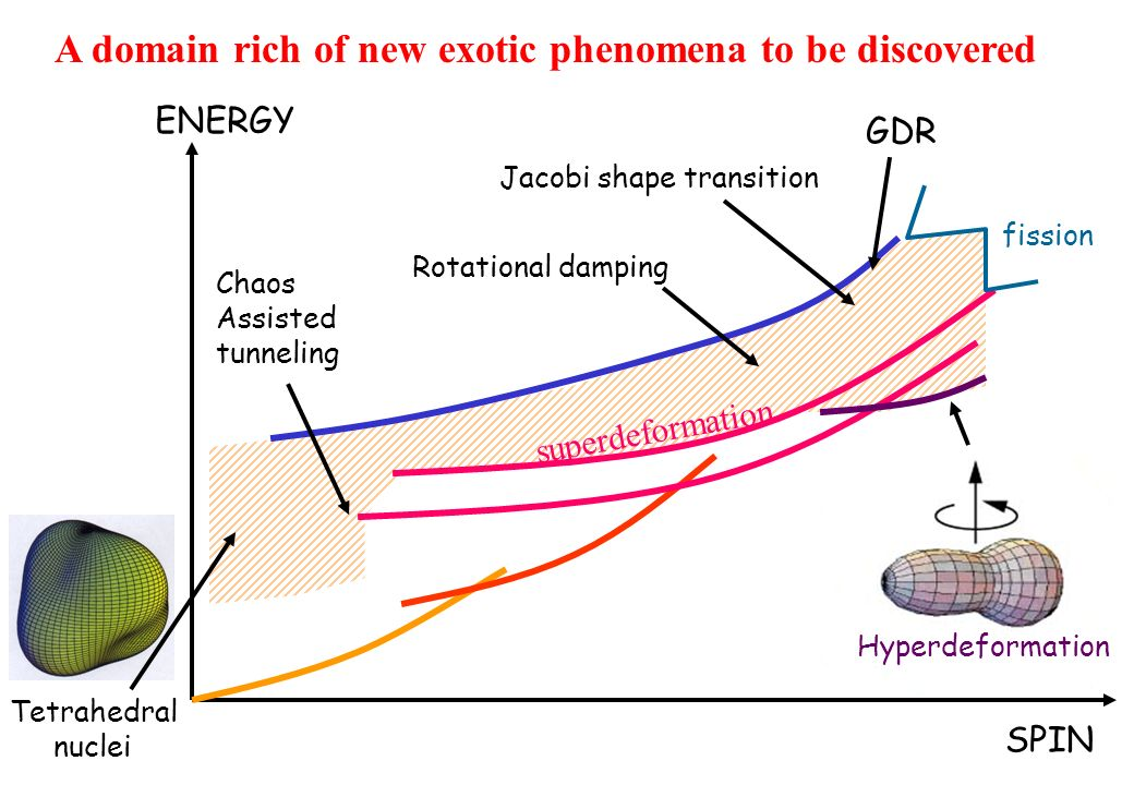 Jacobi shape transition Rotational damping Hyperdeformation Chaos Assisted tunneling superdeformation fission SPIN ENERGY GDR Tetrahedral nuclei A domain rich of new exotic phenomena to be discovered