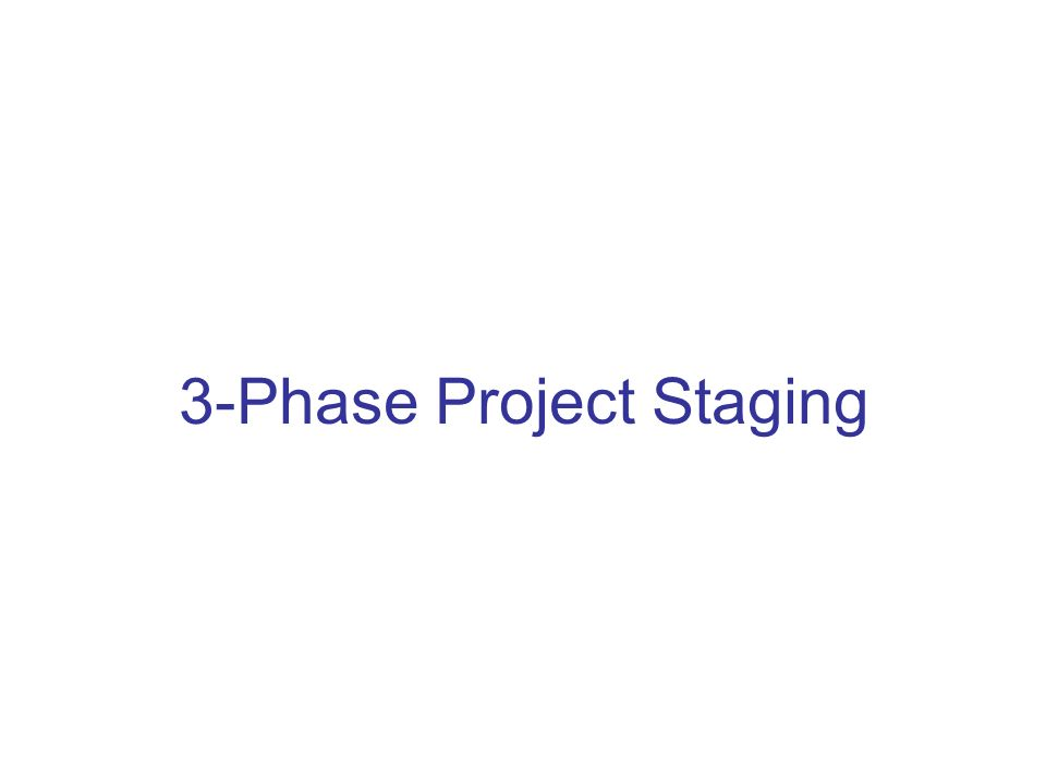 3-Phase Project Staging