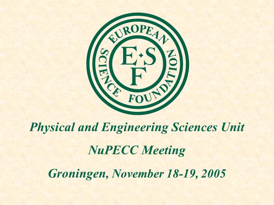 ESF-PESC unit Taking over from Neil Williams Patrick Bressler Email: pbressler@esf.org Tel: +33 (0)3 88 76 71 43 Email: pesc@esf.orgwww.esf.org/pesc