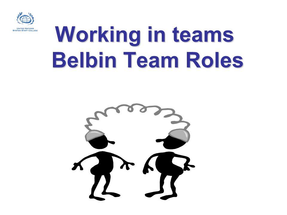 Working in teams Belbin Team Roles