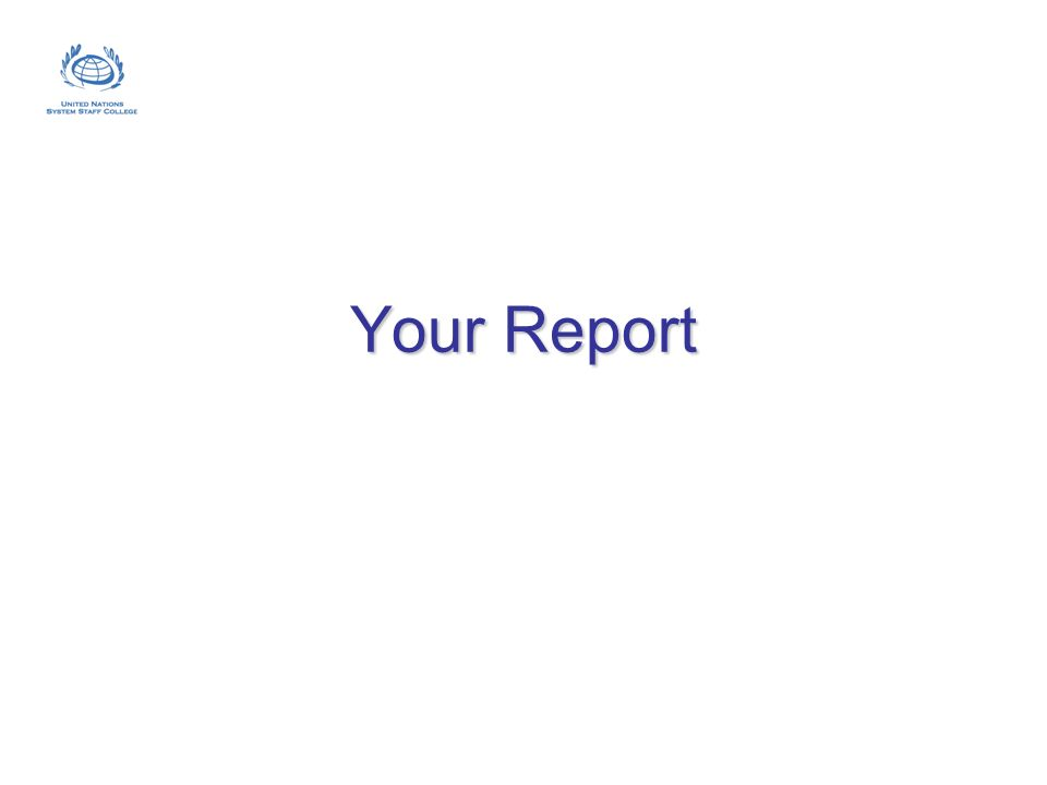Your Report