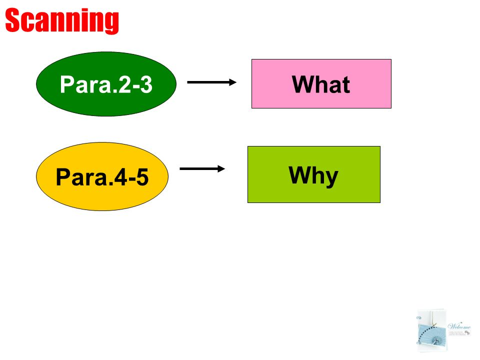 Para.2-3 Para.4-5 What Why Scanning