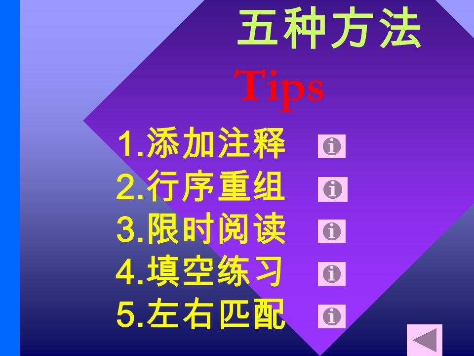 Tips 1. 2. 3. 4. 5.