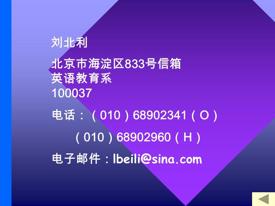 833 100037 010 68902341 O 010 68902960 H lbeili@sina.com