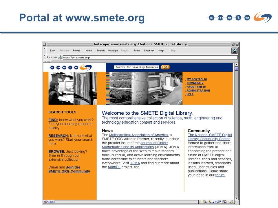Portal at www.smete.org