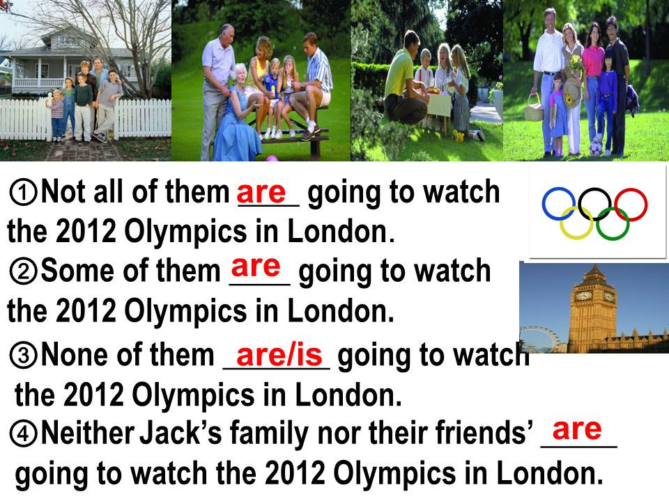 Not all of them ____ going to watch the 2012 Olympics in London.