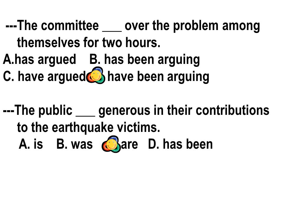 ---The committee ___ over the problem among themselves for two hours.