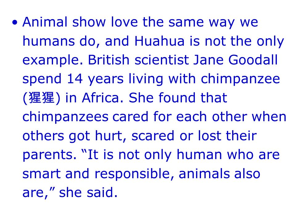 Animal show love the same way we humans do, and Huahua is not the only example.