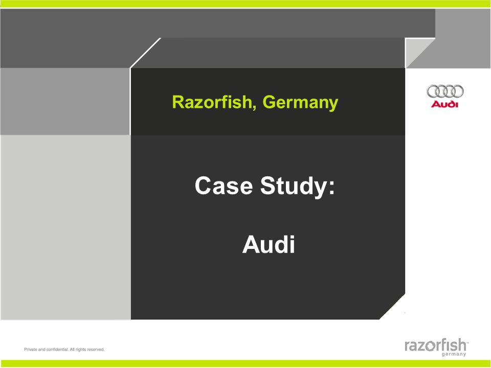 Razorfish, Germany Case Study: Audi