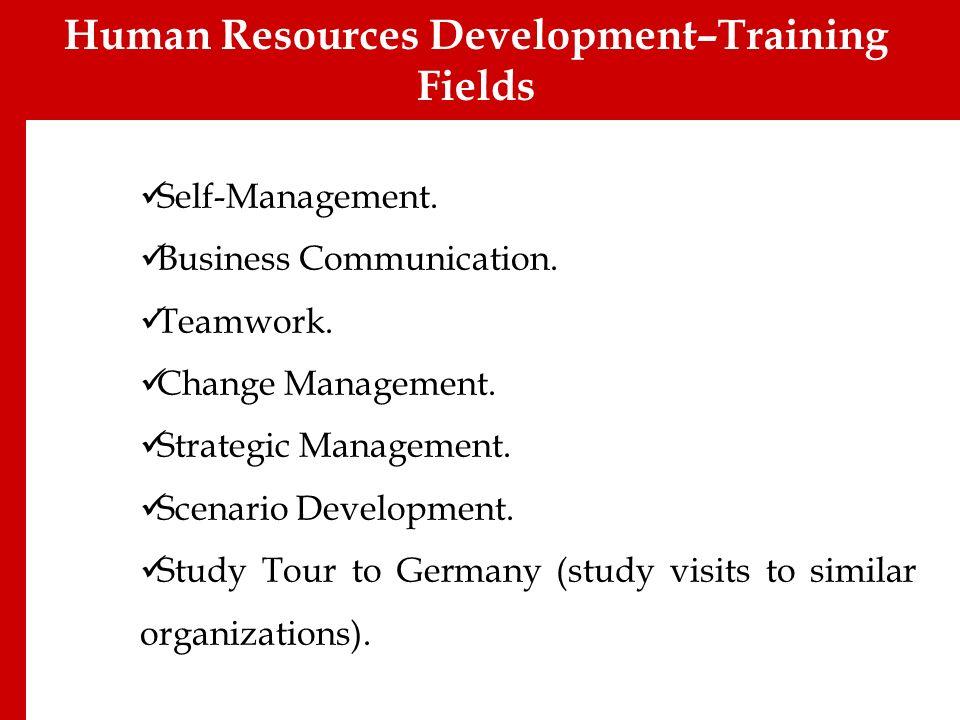 Self-Management. Business Communication. Teamwork. Change Management. Strategic Management. Scenario Development. Study Tour to Germany (study visits