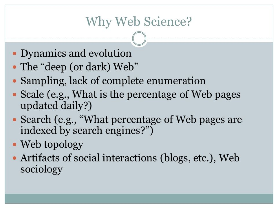 Why Web Science.