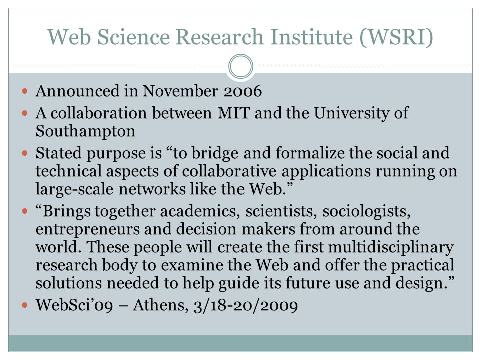 Before We Ask What is Web Science?