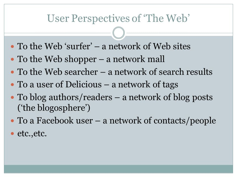 A Case For Web Science How can we understand.