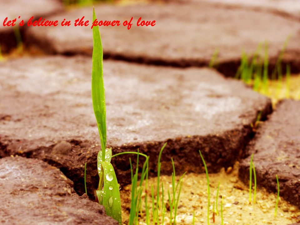 lets believe in the power of love