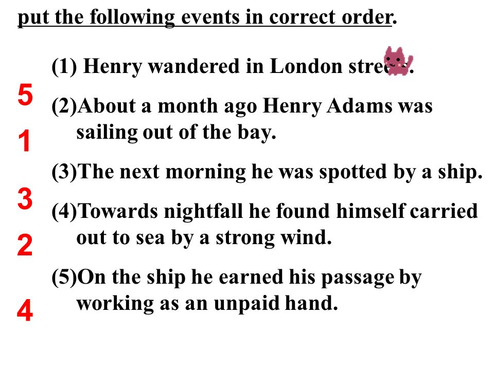 Characters Henry Adams Henry Adams : Roderick and Oliver Roderick and Oliver : I found myself carried out to sea by a strong wind. It was all my fault