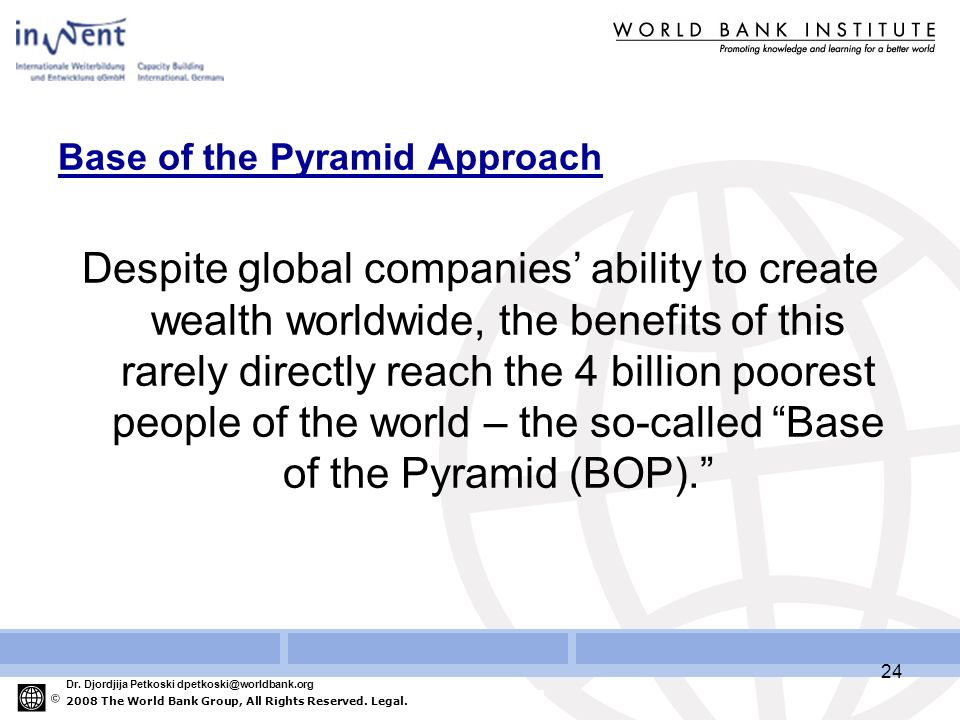 2008 The World Bank Group, All Rights Reserved. Legal.