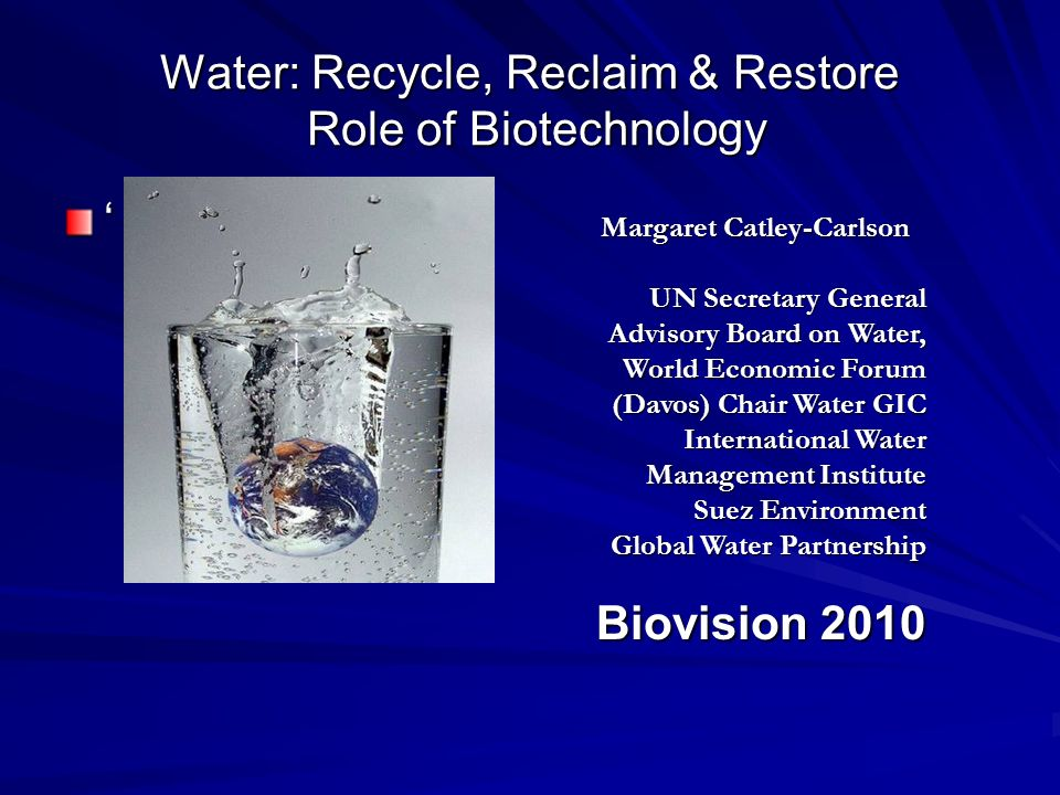 Biotechnology and water shortage Why this is central to the future we want.