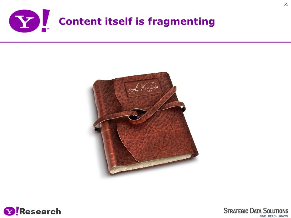Research 54 Content access is fragmenting