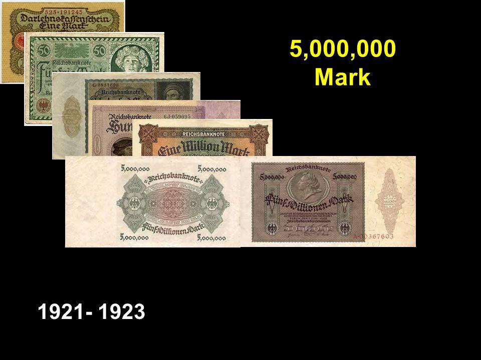 5,000,000 Mark 1921- 1923