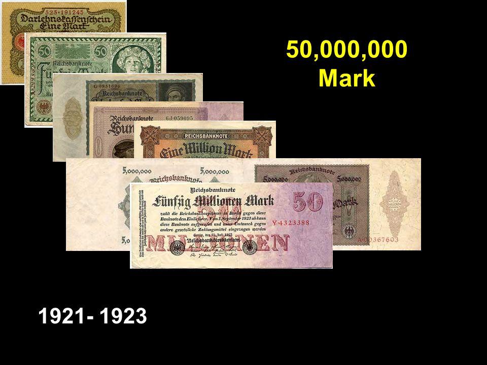 50,000,000 Mark 1921- 1923