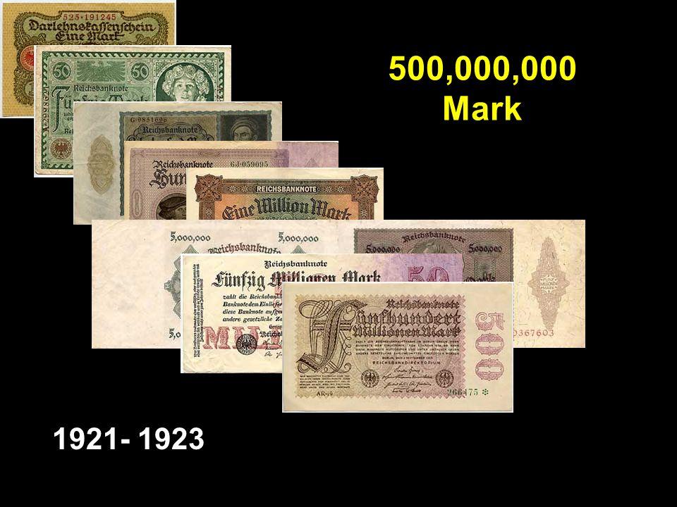 500,000,000 Mark 1921- 1923