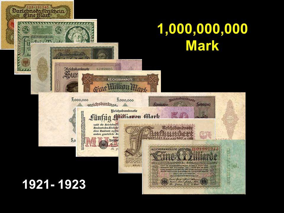 1,000,000,000 Mark 1921- 1923