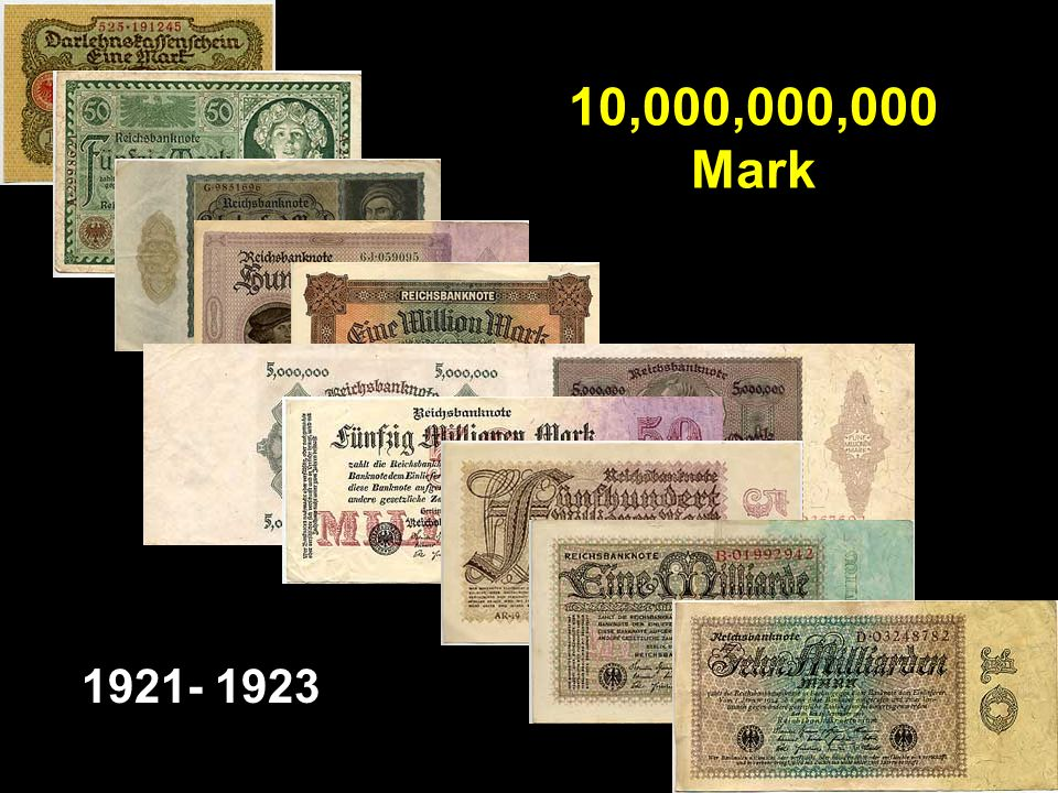 10,000,000,000 Mark 1921- 1923