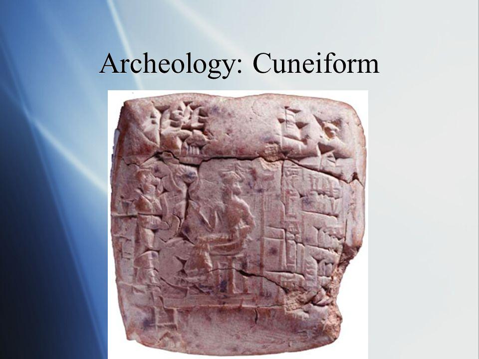 Archeology: Cuneiform