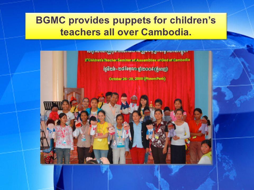 BGMC provided a KidsQuest evangelism kit to help reach children in Cambodia.