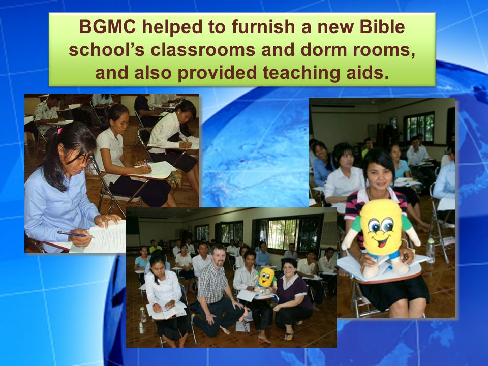 Thank you for giving to BGMC so that the kids and adults in Cambodia will know about Jesus.