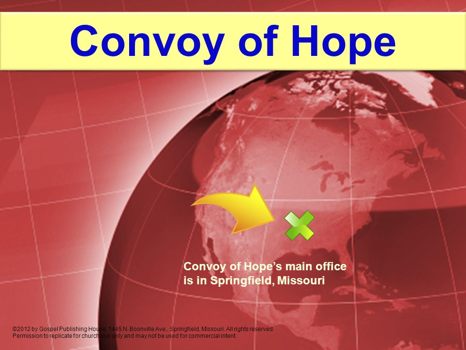 Convoy of Hope sent emergency supplies to Japan after the earthquake and tsunami of 2011.