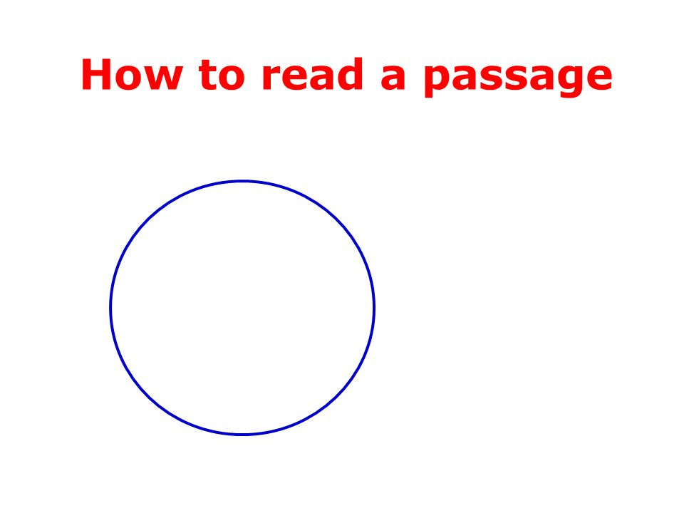 How to read a passage Writers knowledge