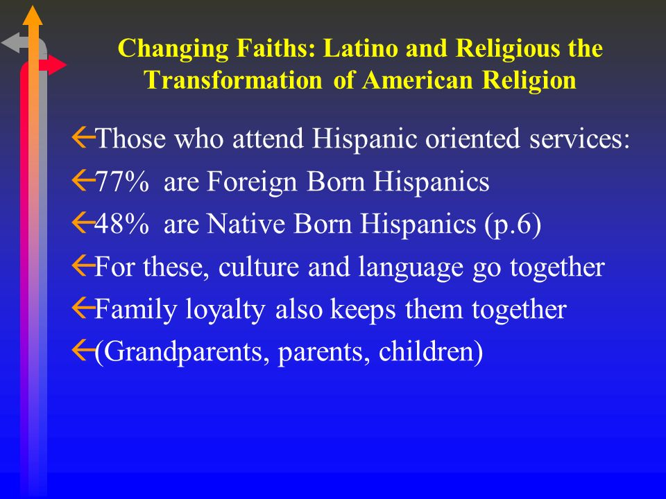 Changing Faiths: Latino and Religious the Transformation of American Religion ßI.