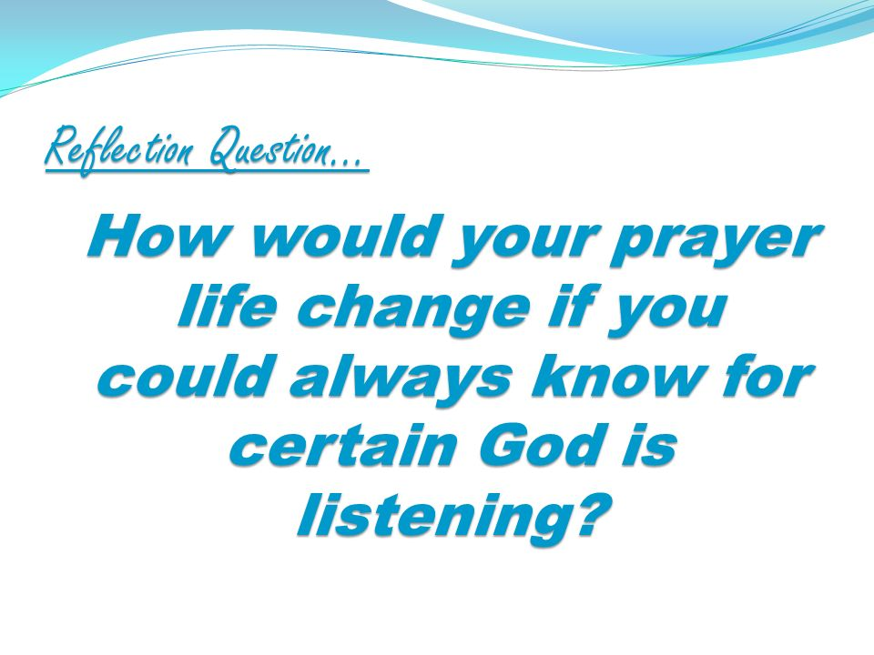 Reflection Question… How does taking a few moments to express praise and adoration to God make a difference in your day?