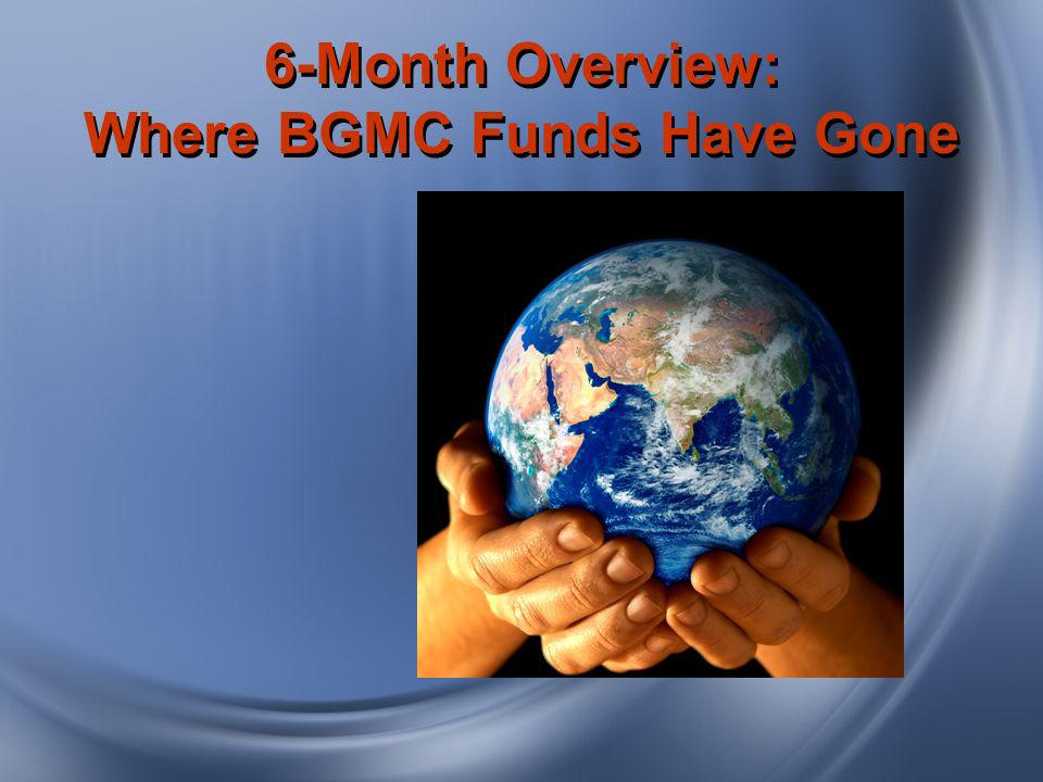 6-Month Overview: Where BGMC Funds Have Gone