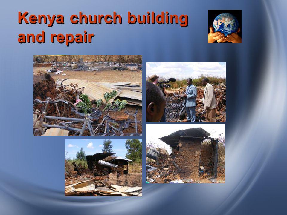 Kenya church building and repair