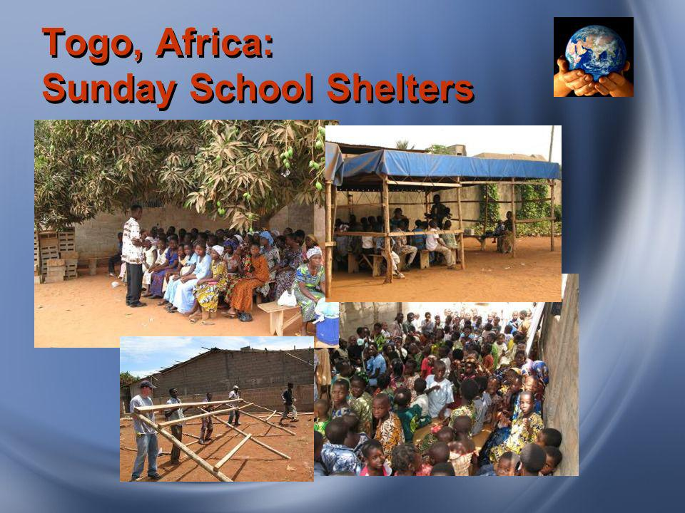 Togo, Africa: Sunday School Shelters