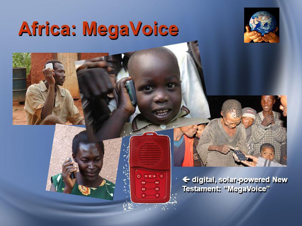Africa: MegaVoice digital, solar-powered New Testament: MegaVoice