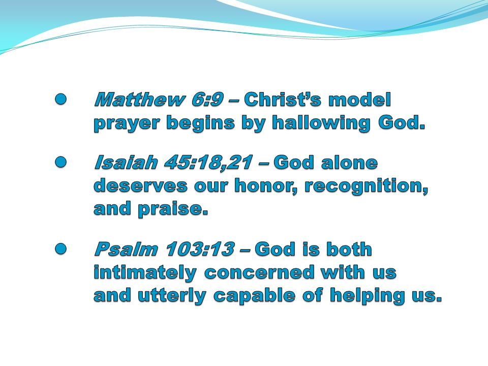 Reflection Question… What are some examples of Gods answers to prayer that came in unexpected ways in your life?