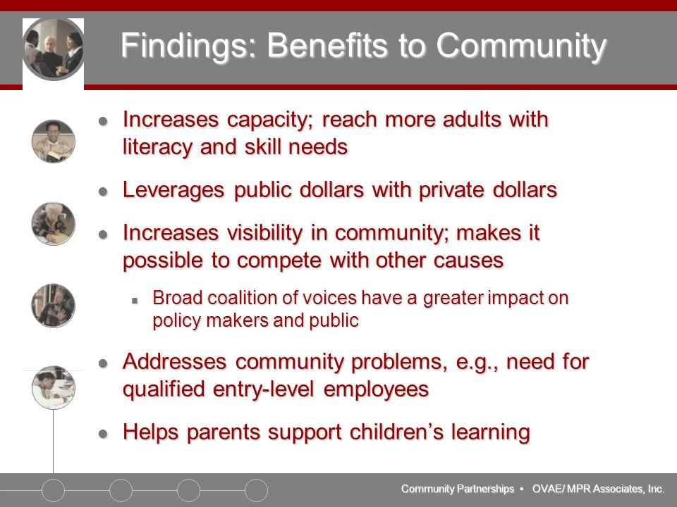 Community Partnerships OVAE/ MPR Associates, Inc.