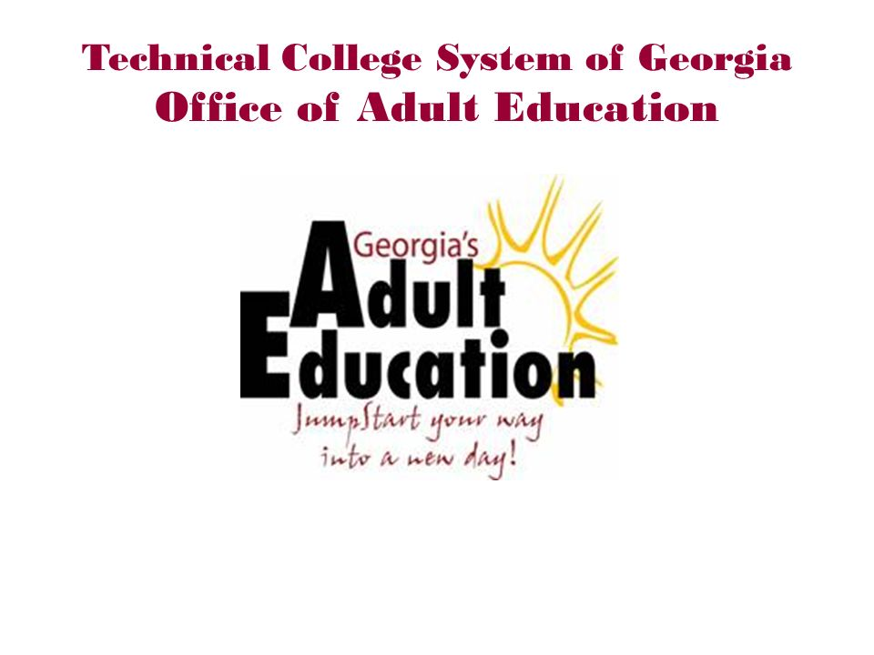 Technical College System of Georgia Office of Adult Education