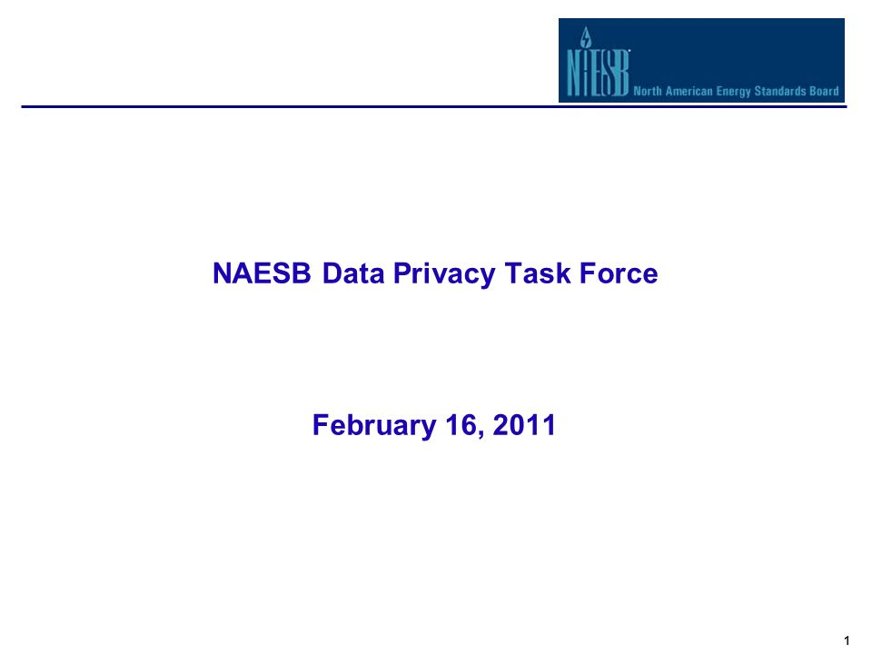 1 NAESB Data Privacy Task Force February 16, 2011