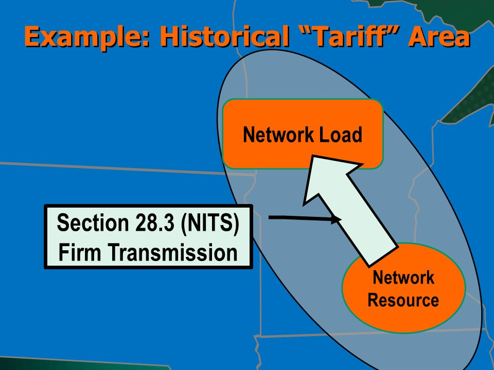 Example: Historical Tariff Area Network Load Network Resource Section 28.3 (NITS) Firm Transmission