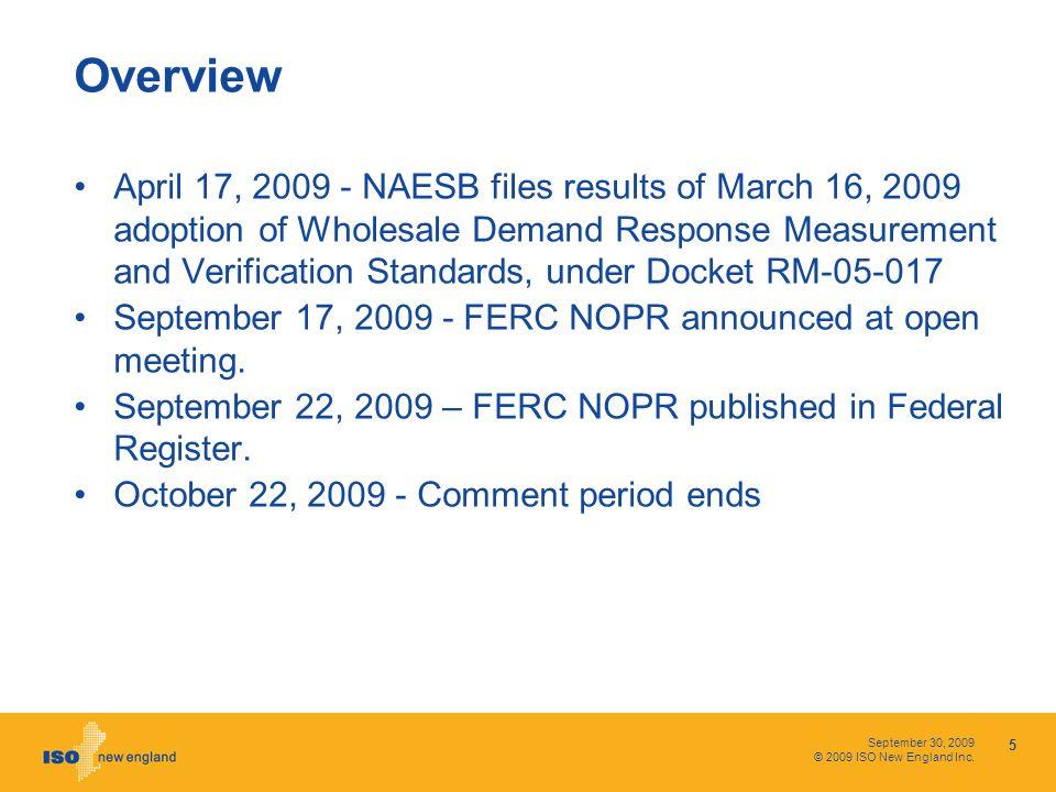 September 30, 2009 © 2009 ISO New England Inc.