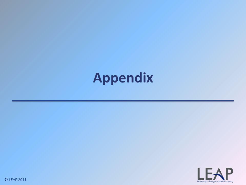 Appendix © LEAP 2011