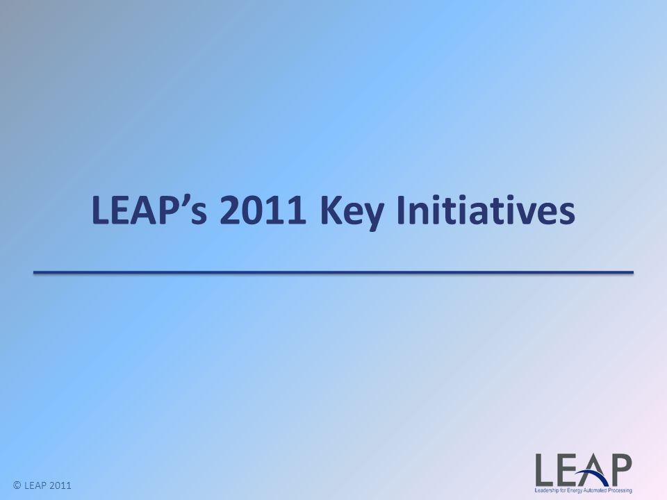 LEAPs 2011 Key Initiatives © LEAP 2011