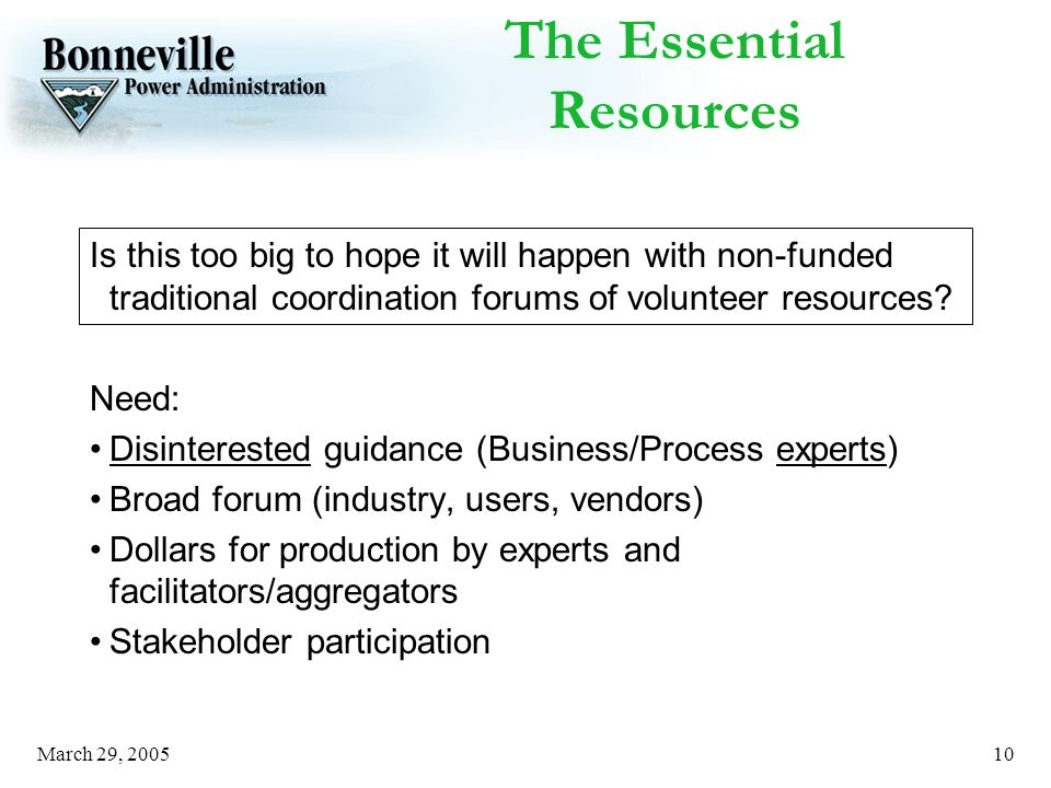 March 29, The Essential Resources Is this too big to hope it will happen with non-funded traditional coordination forums of volunteer resources.