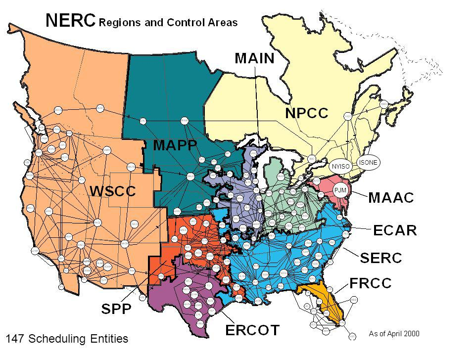133 Scheduling Entities ERCOT PJM NYISO ISONE As of March 2005
